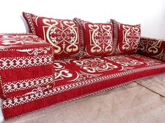 floor seating,floor cushions,arabic seating,arabic cushions,floor sofa,oriental seating,furniture,majlis,jalsa,floor couch,arabic couch - MA 6. TRADITIONAL MIDDLE EASTERN ORIENTAL FLOOR SEATING SOFA Perfect for furnishing and decorating homes, hookah bars, hotels, cafeterias, etc. This handmade authentic Middle Eastern floor sofa will certainly add an element and mystic to any room or space. Our versatile floor sofa sets make the perfect finishing touch, wherever you may wish to use them...