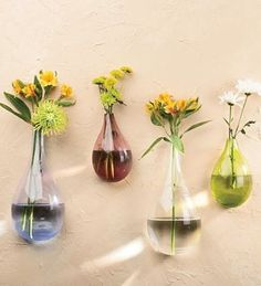 Permanent budvases...not this shape but these sizes