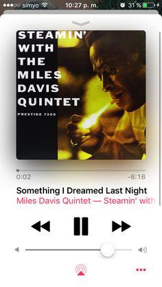 Miles Davis Quintet - Steamin' (1961) Bebop (Prestige)  Miles Davis (Trompeta) John Coltrane (Saxo tenor) Red Garland (Piano) Paul Chambers (Contrabajo) Philly Joe Jones (Batería)  Prestige 7200  Grabado el 11 de mayo y 26 de octubre de 1956