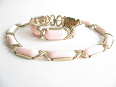 Vintage Pink Thermoset Necklace & Bracelet  by WhimsicalEverAfter
