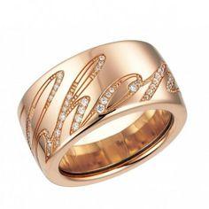 Chopard Chopardissimo 18kt Rose Gold Diamond Ring #JRDunn #Gold #Jewelry