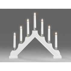 Candlestick White 7 Candles Candlestick Holders, Candlesticks, String Lights, Ceiling Lights, Christmas Lights, Color Change, Chandelier, Lighting, Home Decor