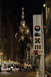 Expo 2015 - Corso Vittorio Emanuele II in Milan, which links the Expo Gate in Piazza Castello to the Duomo downtown.