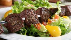 Teriyaki Steak Kabobs Recipe-D Epicure Recipes, Kabob Recipes, Diabetic Recipes, Easy Healthy Recipes, Wine Recipes, Gourmet Recipes, Beef Recipes, Beef Skewers, Steak Kabobs