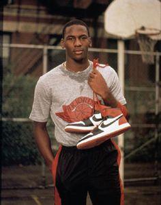 Michael Jordan With Air Jordan I