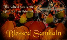 Halloween and Samhain. Blessed be and Blessed Samhain ! Pentacle, Modern Halloween, Happy Halloween, Halloween Art, Blessed Samhain, Samhain Halloween, Sabbats, Beltane, Book Of Shadows
