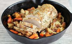 Skillet Roast Pork Loin with Carrots and Potatoes