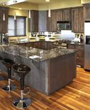 """Love Giani """"painted granite"""" for countertops. We had to wait to get new countertops so i did this in two bathrooms. Countertop Paint Kit, Countertop Makeover, Painting Countertops, Black Granite Countertops, Granite Kitchen, Kitchen Countertops, Giani Granite, Granite Paint, Dark Granite"""