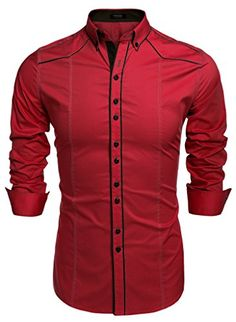 Coofandy Hombre Camisas Franela Cuadros Moda Manga Larga Men Fashion Slim Fit Casual Long Sleeves Shirts
