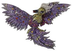 A firebird brooch from the Fabergé jewelry collection.
