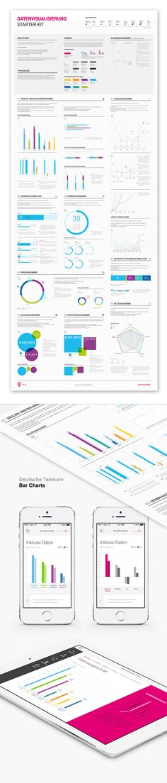 Telekom Data Visualization Styleguide - Bureau Oberhaeuser - Information & Interfacedesign #DataViz JAMSO works with business in training for goal setting, KPI Management, BI solutions and predictive analytics find out more http://www.jamsovaluesmarter.com