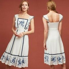 Anthropologie Farm Rio Galatea Dress size xl Bust measurement inches New with tags Modest Dresses, Pretty Dresses, Casual Dresses, Short Dresses, Boho Fashion, Fashion Outfits, Elegant Outfit, Summer Dresses For Women, Dress To Impress