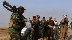 Combatientes peshmerga en Rabia, Irak