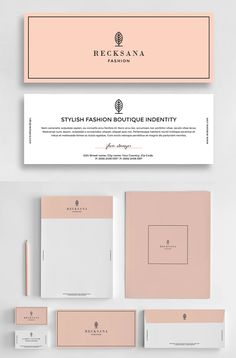Stylish Stationery Set Invoice Design, Letterhead Design, Branding Design, Psd Templates, Brochure Template, Envelope Design, Stationery Items, Business Branding, Graphic Design