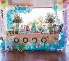 Noahs Ark Theme, Bubble Guppies Birthday, Golden Birthday, 242, Under The Sea Party, Mermaid Birthday, Holidays And Events, First Birthdays, Birthday Parties