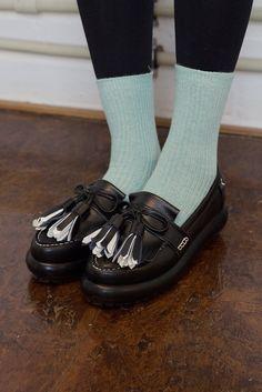 Unique Leather Tassel Loafer Black