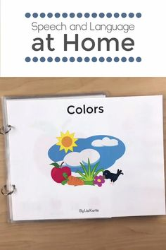 preschool Preschoolers love learning with interactive books. Teach your students color words with this fun activity. Great for speech therapy, special educations and preschool classroom tea Preschool Speech Therapy, Kindergarten Learning, Preschool Learning Activities, Preschool Songs, Interactive Learning, Speech Language Therapy, Preschool Classroom Labels, Interactive Books For Preschoolers, Toddler Speech Activities