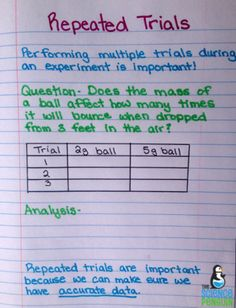 Science Process Skills Notes: repeated trials notes