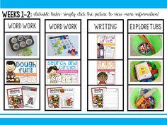 FREEBIE a year's worth of literacy center ideas!