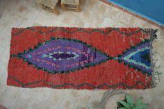 Authentic Moroccan carpet 95x225 cm ref IH15-02