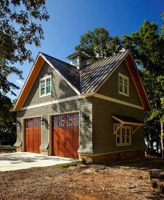 Lake House Cabana traditional garage and shed