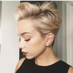 """7,111 Likes, 59 Comments - Short Hairstyles   Pixie Cut (@nothingbutpixies) on Instagram: """"❤️ this Rooty champagne PIXIE✂️ @sarah_louwho"""""""