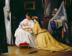 First Born, 1863.  Gustave-Leonard de Jonghe