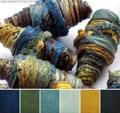 Art Bead Palette Carolyn Saxby Textiles is part of Art Bead Palette Carolyn Saxby Textiles Alternate Mauve Halloween Green Sunflower Leaves Peeling Boat Paint Pretty in Pink Purple Plum When Heathe - Colour Pallette, Colour Schemes, Color Patterns, Color Combos, Gold Color Scheme, Peacock Color Scheme, Earthy Color Palette, Carolyn Saxby, Palette Design