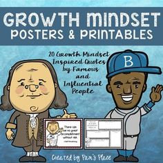 Encourage students to develop a growth mindset with these inspirational posters and printables that have students think more deeply about the messages behind the growth mindset quotes. Growth Mindset Activities, Growth Mindset Posters, Grouping Students, Math Talk, Overcoming Obstacles, Upper Elementary, Elementary Teaching, Student Teaching, Teaching Ideas