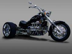 Custom Honda Valkyrie Trike by ACE Motorworks! Concept Motorcycles, Honda Motorcycles, Custom Motorcycles, Goldwing Bobber, Honda Valkyrie, Harley Davidson Trike, Custom Trikes, Chopper Bike, Motorcycle Types