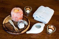 They look amazing, made of solid Himalayan salt. These salt candle holders will add character to any home. White Himalayan Salt Lamp, Himalayan Salt Candle Holder, Pink Salt Lamp, Salt Rock Lamp, Himalayan Salt Benefits, Burning Candle, Allergies, Lamps, Candle Holders