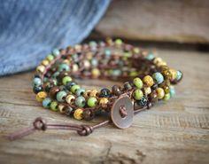 Beaded Crochet Jewelry, Crochet Wrap Bracelet, Boho Beach Jewelry, Crochet…