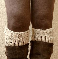 Hand Knitted Boot Cuffs, Boot Toppers, Chunky Knit , Buttons For Women and Teens Knitted Socks