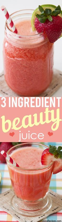 This juice is one of the most delicious I have ever tasted! Not to mention it's super simple to make with only 3 ingredients! PERFECT for kids and adults alike! <3