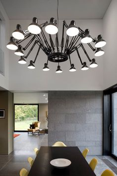 The Wilderness House by Paul+O Architects - Design Milk Interior Lighting, Lighting Design, Spider Lamp, Interior Architecture, Interior Design, Residential Architecture, Aesthetic Space, I Love Lamp, Roof Light