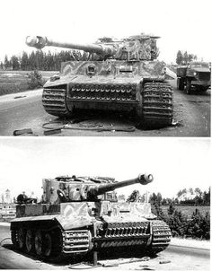 Panzer VI Ausf E Tiger captured by Soviet troops