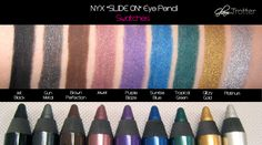 NYX Slide-On Eye Liner Pencils Swatches & Review!