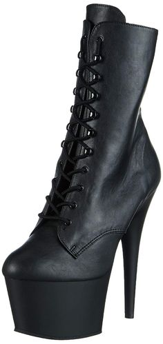 131c66377a0 Pleaser Womens Boot Black Faux LeatherBlack Matte 9 M US     Learn more by  visiting the image link. Nice Ladies Boots