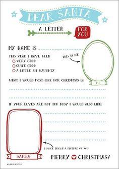 Santa Letters: 10 Free Printable Letters to Santa | Santa letter ...