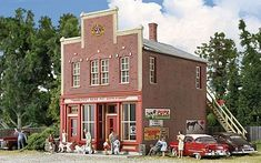 Walthers Post Road Pet Supply - Kit - 3-5/8 x 5-1/8 x 5 Inch -- HO Scale Model Railroad Building -- #3660 #modelrailroadsupplies