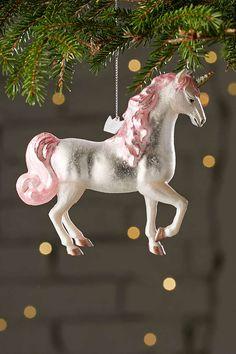 Glitter Unicorn Ornament - Urban Outfitters