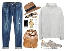 """""""716"""" by dasha-volodina ❤ liked on Polyvore featuring AG Adriano Goldschmied, River Island, Annette Görtz, Squair, New Balance, Michael Kors, Maison Margiela, Aesop and Chanel"""