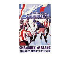Chalet de montaña: Cartel Tous les sports d'hiver - 50x70