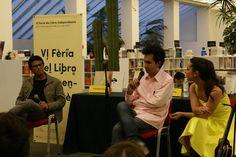 Tonatiuh Trejo, Raúl Fuentes y Andrea Portal durante la presentación de Perdiendo el tiempo.