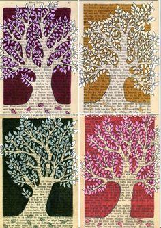 Postcard+set++Trees+by+carambatack+on+Etsy,+$12.50