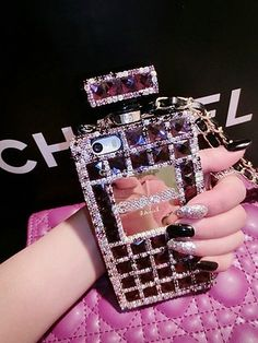 chanel iphone 6 case bling perfume bottle