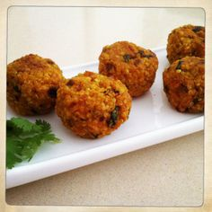 Pumpkin and Kale Quinoa Balls (vegan)