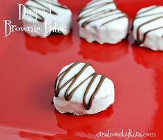 Heart Shaped Brownie Bites for Valentine's Day via @craftymomcooks
