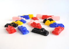 Miniature Plastic Trucks and Buses | Lot of 19 | Mid-Century Tiny Toy Vehicles | Vintage Upcycle Craft Supplies by TheLogChateau on Etsy