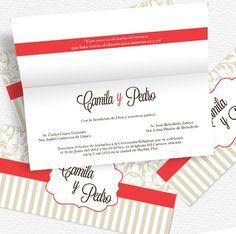 Giselle - Bodas: Invitación de diseño contemporáneo, es perfecta para ese día tan especial.